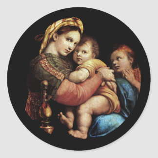 Madonna of the Chair Classic Round Sticker
