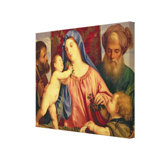 Madonna of the Cherries with Joseph Canvas Print
