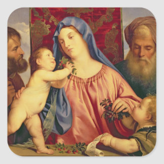 Madonna of the Cherries with Joseph Square Sticker
