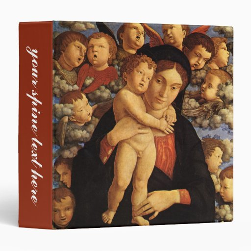 Madonna of the Cherubim by Andrea Mantegna Vinyl Binders