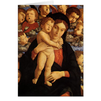 Madonna of the Cherubim by Andrea Mantegna Card