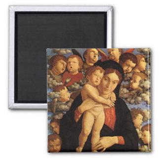 Madonna of the Cherubim by Andrea Mantegna Magnet