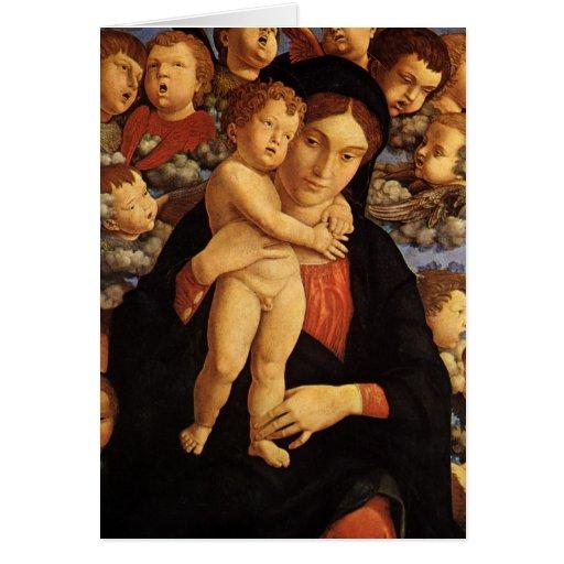 Madonna of the Cherubim by Mantegna, Christmas Greeting Card
