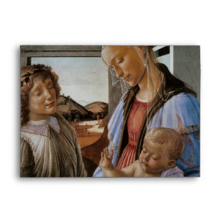 Madonna of the Eucharist by Botticelli Envelope