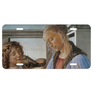 Madonna of the Eucharist by Botticelli License Plate