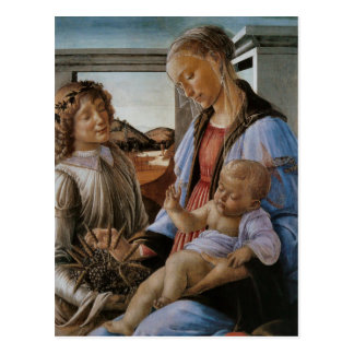 Madonna of the Eucharist by Botticelli Postcard