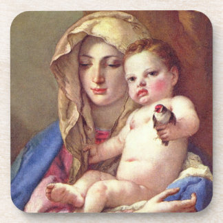 Madonna of the Goldfinch Beverage Coasters