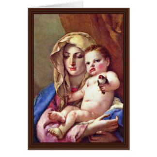 Madonna Of The Goldfinch Card