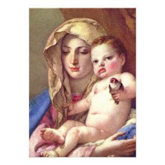 Madonna of the Goldfinch Invitation