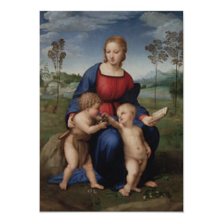 Madonna of the Goldfinch Raphael Card