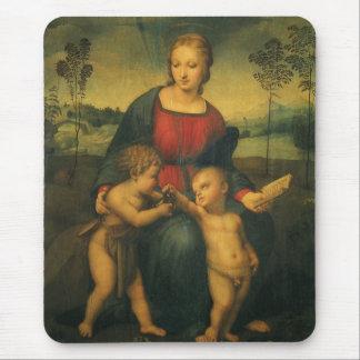 Madonna of the Goldfinch, Raphael Renaissance Art Mouse Pads
