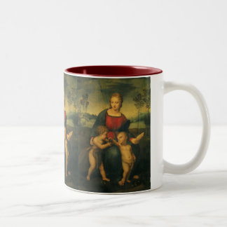 Madonna of the Goldfinch, Raphael Renaissance Art Two-Tone Coffee Mug