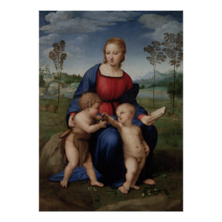 Madonna of the Goldfinch Raphael Sanzio Poster