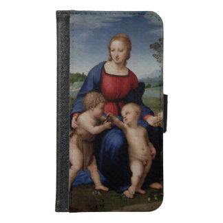 Madonna of the Goldfinch Raphael Sanzio Wallet Phone Case For Samsung Galaxy S6