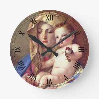 Madonna of the Goldfinch Wallclock