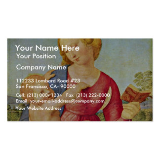 Madonna Of The House Of Colonna By Raffael Business Card