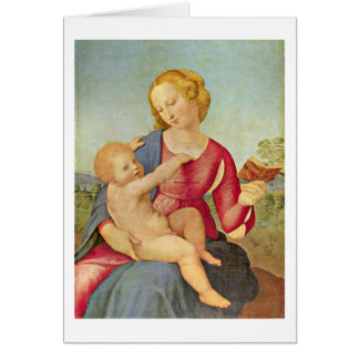 Madonna Of The House Of Colonna By Raffael Card