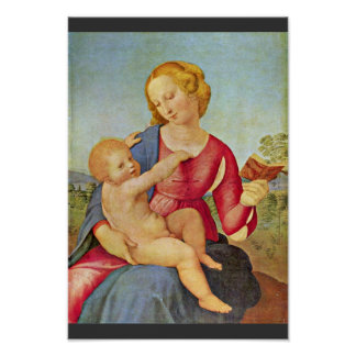 Madonna Of The House Of Colonna By Raffael Print