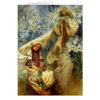 Madonna of the Lilies 1905 Card