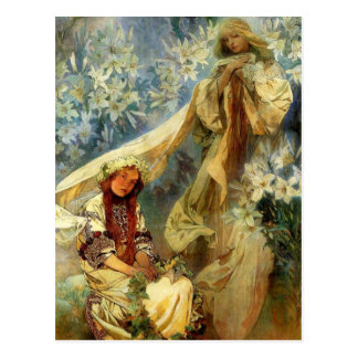 Madonna of the Lilies 1905 Postcard