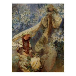 Madonna of the Lillies Postcard