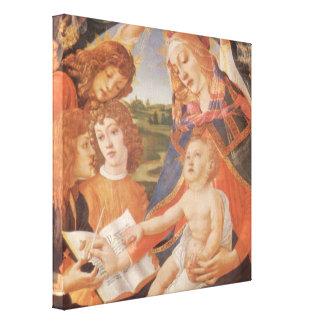 Madonna of the Magnificat, Botticelli, Renaissance Canvas Print