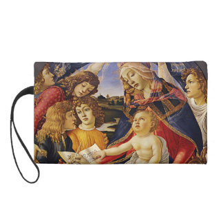 Madonna of the Magnificat by Botticelli Wristlet Purses