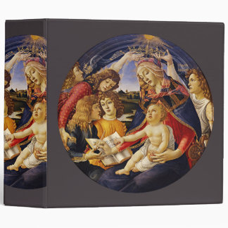 Madonna of the Magnificat by Botticelli Vinyl Binder