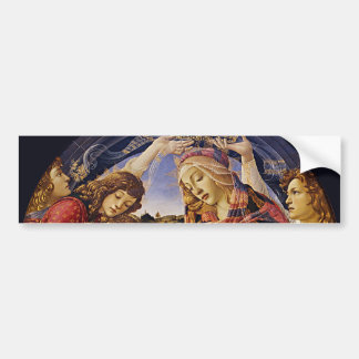 Madonna of the Magnificat by Botticelli Bumper Sticker