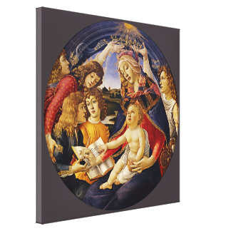 Madonna of the Magnificat by Botticelli Gallery Wrap Canvas