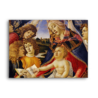 Madonna of the Magnificat by Botticelli Envelope