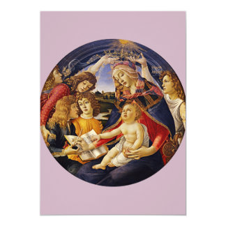 Madonna of the Magnificat by Botticelli Invitations