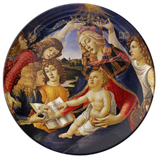 Madonna of the Magnificat by Botticelli Porcelain Plates