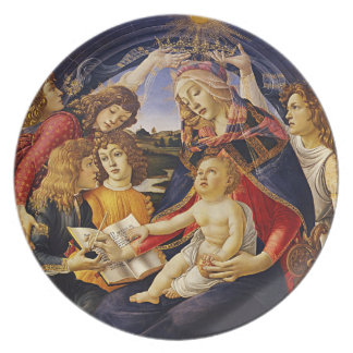 Madonna of the Magnificat by Botticelli Dinner Plate