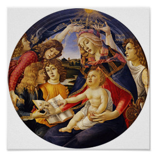 Madonna of the Magnificat by Botticelli Poster