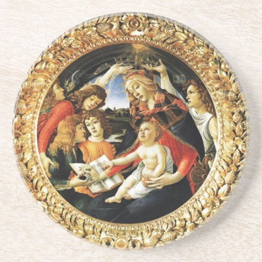 Madonna of the Magnificat Drink Coasters