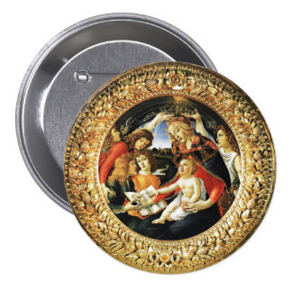 Madonna of the Magnificat Pinback Button