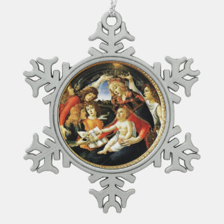 Madonna of the Magnificat Snowflake Pewter Christmas Ornament