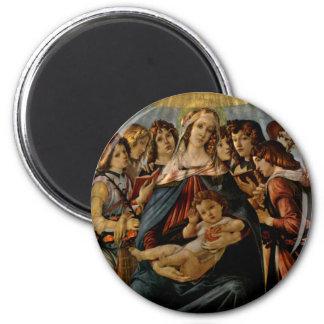 Madonna of the Pomegranate - Botticelli Magnet