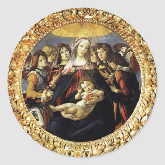 Madonna of the Pomegranate Classic Round Sticker