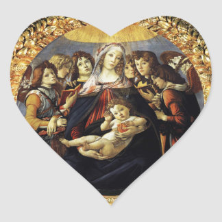 Madonna of the Pomegranate Heart Heart Sticker
