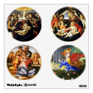 Madonna of the Pomegranate ,Holy Family and Angels Wall Sticker