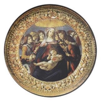 Madonna of the Pomegranate Melamine Plate