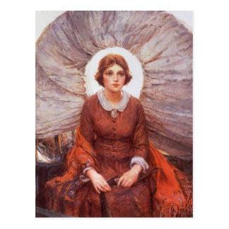 Madonna of the Prairie by WHD Koerner, Vintage Art Postcard