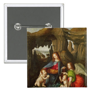Madonna of the Rocks Button