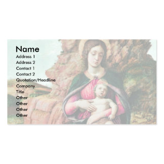 Madonna Of The Rocks By Andrea Mantegna Double-Sided Standard Business Cards (Pack Of 100)