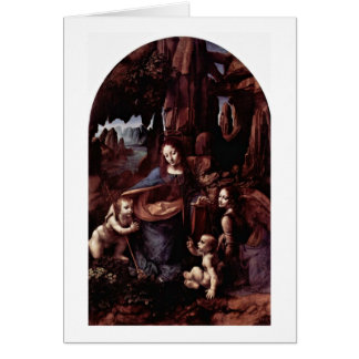 Madonna Of The Rocks By Card