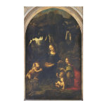 Madonna of the Rocks, c.1478 Gallery Wrap Canvas