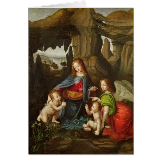 Madonna of the Rocks Card