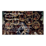 Madonna Of The Rosary By Lotto Lorenzo (Best Quali Business Card